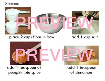 Pumpkin Pie Play Dough Visual Step-by-Step Supplies and Instructions