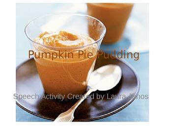 Pumpkin Pie Pudding - Goals- Power Point
