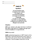 Pumpkin Pie - Recipe Reading Comprehension