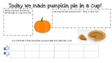 Pumpkin Pie Recording Sheet
