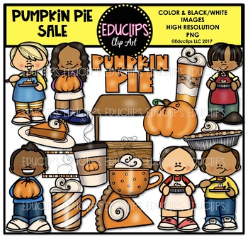Pumpkin Pie Sale Clip Art Bundle {Educlips Clipart}