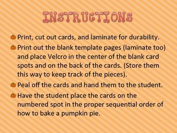 Pumpkin Pie Sequencing