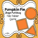 Pumpkin Pie Shape Matching File Folder Game