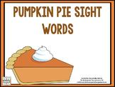 Pumpkin Pie Sight Words