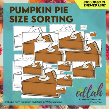 Pumpkin Pie Size Sorting Cards