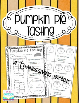 Pumpkin Pie Tasting and Graphing