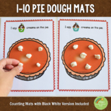 Pumpkin Pie Thanksgiving Counting Playdough Mats