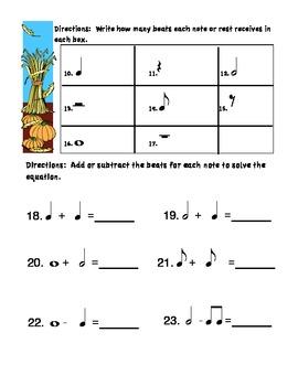 Pumpkin Pie Theme Rhythm Quiz