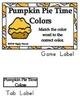 Pumpkin Pie Time Basic Skill File Folder Games