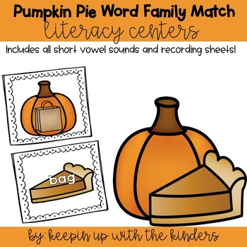 Pumpkin-Pie Word Family Matching