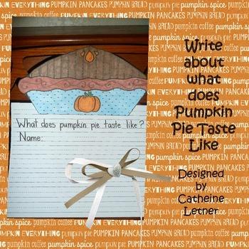 Pumpkin Pie Write Craft