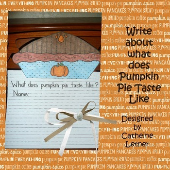 Pumpkin Pie Write Craft