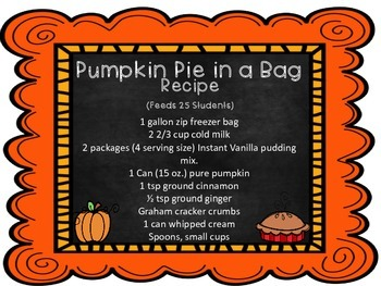 Pumpkin Pie in a Bag
