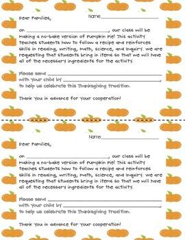 Pumpkin Pie in a Bag - Thanksgiving Cooktivity!