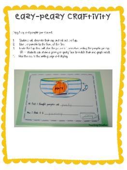 Pumpkin Activities and Recipe Writing Mini Unit
