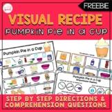 Pumpkin Pie in a Cup Visual Recipe {FREEBIE}