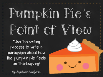 Pumpkin Pie's Point of View (Thanksgiving Writing)