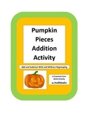 Pumpkin Pieces Activity - Two Digit Adding and Subtracting with Regrouping