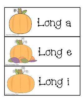 Pumpkin Pile - Long Vowel Sorting Activity