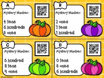 Pumpkin Place Value: A 2nd gr CCSS Aligned Math Center
