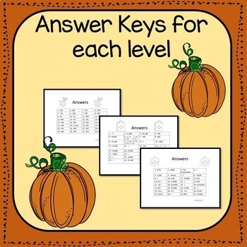 Pumpkin Place Value Math Task Cards {Grades 3-5}