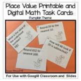 Pumpkin Place Value Math Task Cards: Grades 3, 4, and 5