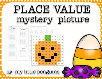 Pumpkin Place Value Mystery Picture