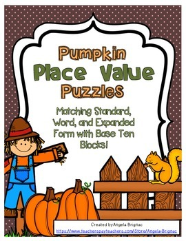Autumn Place Value Puzzles {Expanded, Word, and Standard Form PLUS Blocks!}