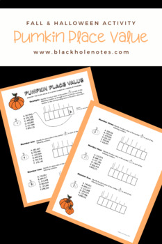 Pumpkin Place Value Worksheet