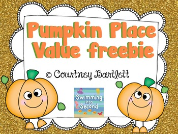 Pumpkin Place Value freebie