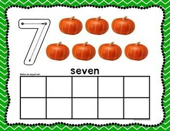 Pumpkin Play Dough Counting Mats 0-20
