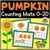 Pumpkin Play Dough Counting Mats 0-20