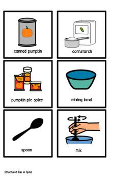 Pumpkin Play Dough Visual Recipe