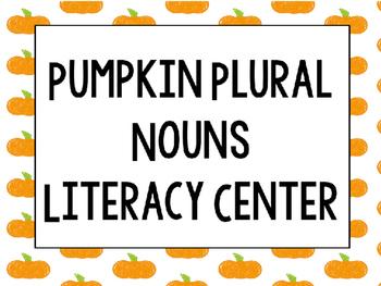 Pumpkin Plural Nouns Sort