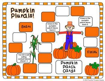 Pumpkin Plurals ~ Fall posters, game & center   COMMON CORE