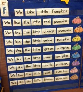 Pocket Chart Sight Word & Writing Center - Pumpkins - We l