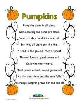 Pumpkin Poem Freebie