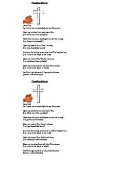 Pumpkin Poem Prayer