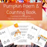 Pumpkin Poem and Counting Book-Preschool, Kindergarten, Su