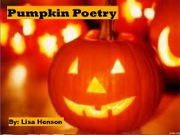 Pumpkin Poetry Flipchart