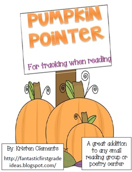 Pumpkin Pointer {For Tracking When Reading}
