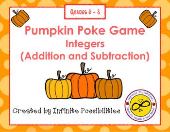 Adding and Subtracting Integers Pumpkin Poke