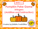 Adding and Subtracting Integers Pumpkin Poke Game