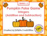 Pumpkin Poke - Adding and Subtracting Integers