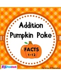 Pumpkin Poke Addition Facts 1-12 Game