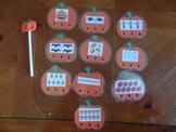 Pumpkin Poke n Peek number recognition game