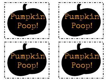Pumpkin Poop Gift Tag