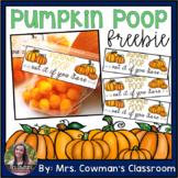 Pumpkin Poop Label- Halloween Freebie