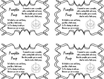 Pumpkin Poop Tags {FREEBIE}