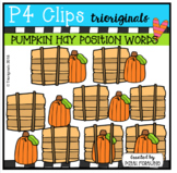 P4 POSITION WORDS Pumpkins (P4 Clips Trioriginals)